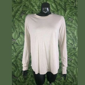 VINCE Blush Pink Long Sleeve Top